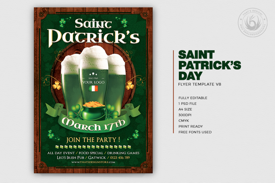 Saint Patricks Day Flyer Template V8