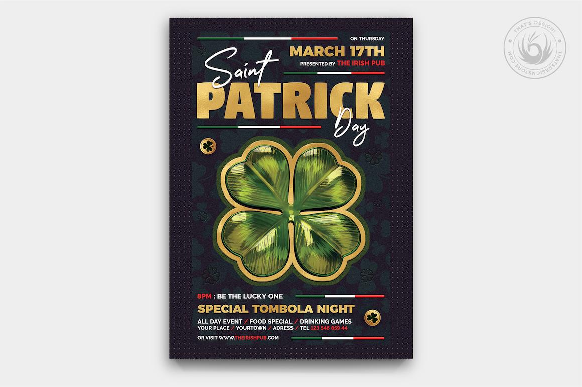 St Patrick's day flyers, Saint Patricks Day Flyer Template V10