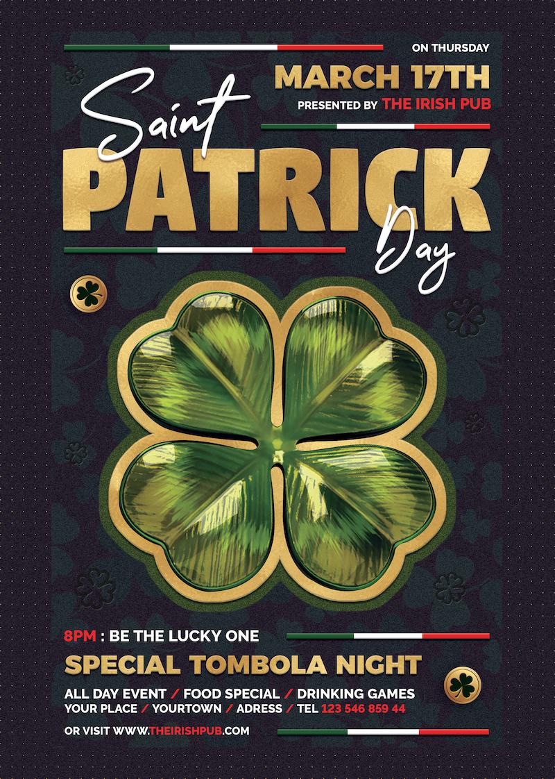 St Patricks day flyers, Saint Patricks Day Flyer Template V10
