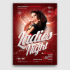 Flyers templates, flyer templates, party flyers, club flyer, club flyers, Ladies night flyer template psd