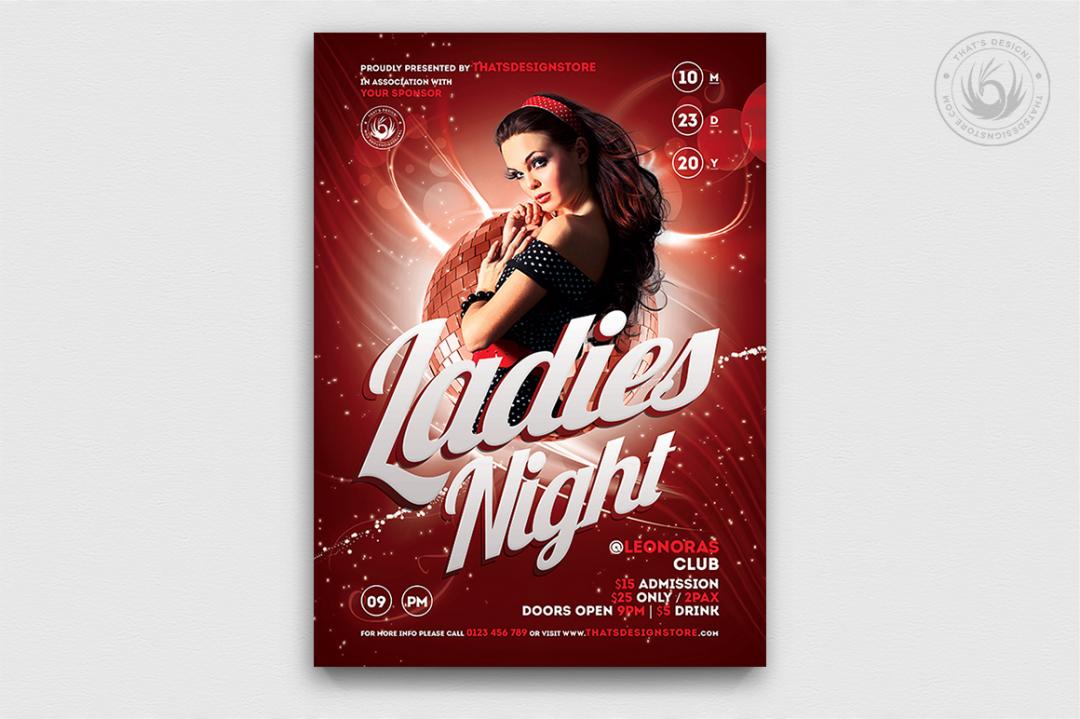 Flyers templates, flyer templates, party flyers, club flyer, club flyers, Ladies night flyer template psd