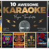 Download this Karaoke Flyer Templates for photoshop