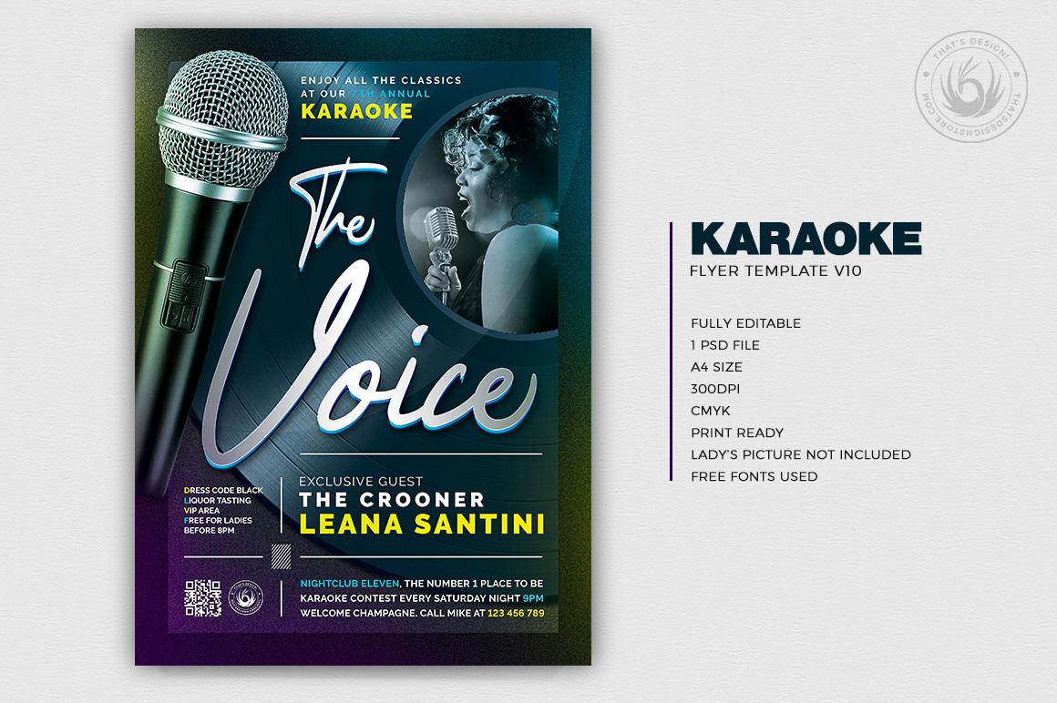 karaoke flyer templates, karaoke flyer psd, club flyers templates, karaoke contest, Open mic