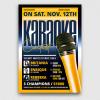 Karaoke Flyer template, Karaoke flyers psd, Contest, Open mic