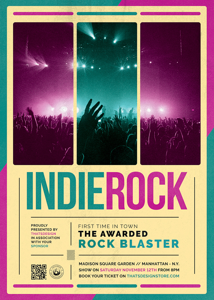 Indie Music Rock Flyer Template V2