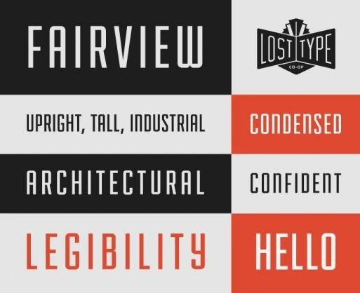 Fairview free fonts