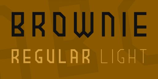 brownie free font