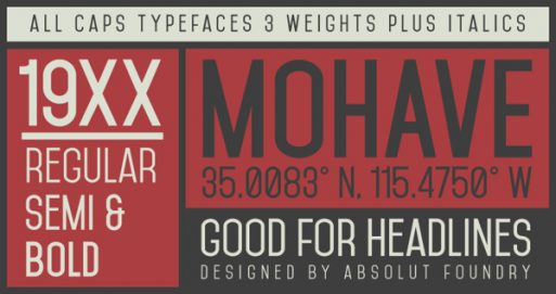 mohave best free fonts